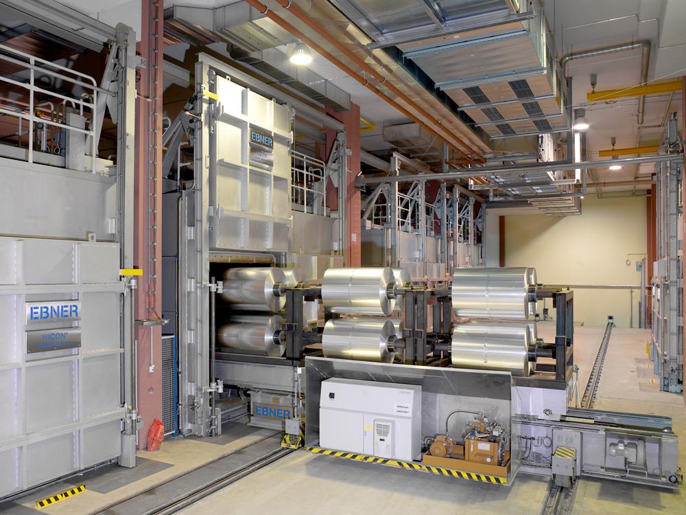 EBNER Kammerofen für Aluminium Folienbunde